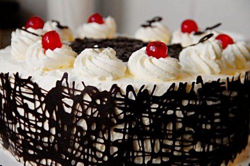 black forest vegan cake